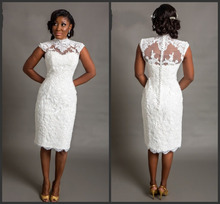 New 2016 white Short Wedding Dresses Bride Sexy Lace Wedding Dress Bridal Gown Knee Length Ivory Vestido De Noiva curto