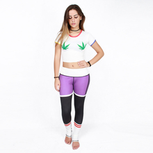 JIGERJOGER New FALL 2016 High waisted Band Stretchy Purple Women's Yoga Pants exercise leggings Running workout gear activewear(China)