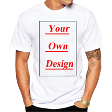 High Quality Customized Men T shirt Print Your Own Design Men Casual Tops Tee Shirts(China)