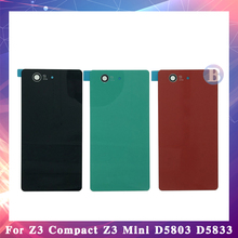 10pcs High Quality Sony Xperia Z3 Compact Mini Z3 L55T Housing Battery Cover Back Cover Door Rear Cover Z3+ Z3 Plus Z4