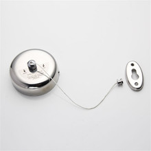 2015 New Arrival Useful 2.5M Silver Retractable Stainless Steel Wall Mounted Non Slip Laundry Dryer Clothes Line Hanger Racks