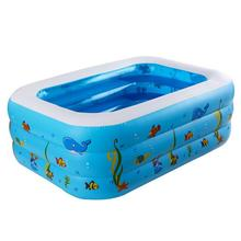 children's large inflatable pool thick green PVC baby swimming pool baby bath tub, float swimming bean bag beds