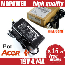 MDPOWER For ACER Aspire 5672WLMi 5735 5738DG laptop power supply power AC adapter charger cord 19V 4.74A(China)