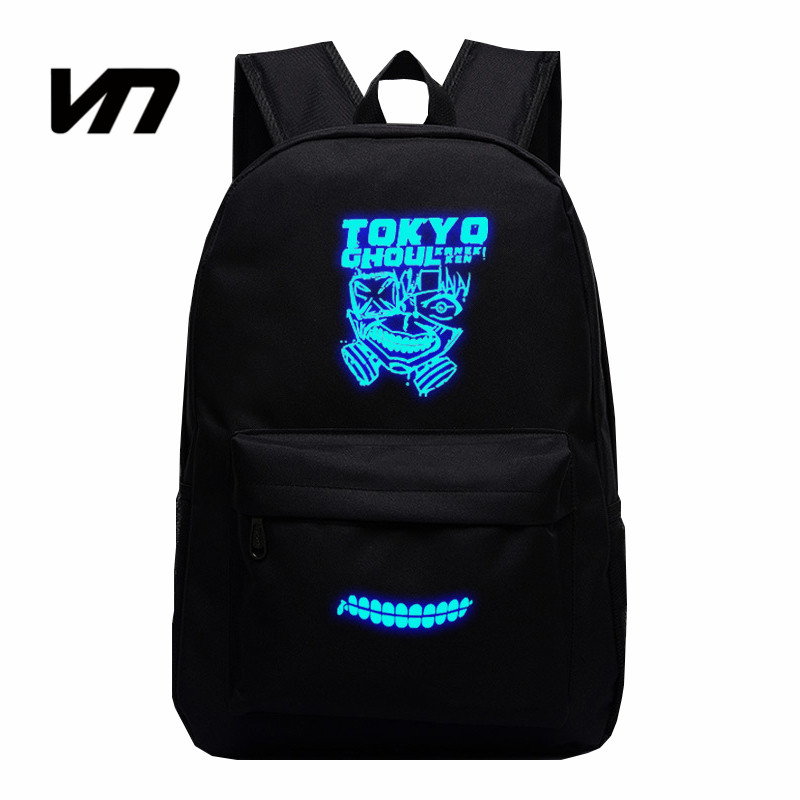 2017 Japanese Animation Backpack Anime Cartoon Tokyo Ghoul Luminous Backpack Oxford Bags Unisex Double Shoulder Bag Fans Lovest<br><br>Aliexpress