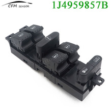 New 1J4959857B Power Driver Side Window Switch For Bora Golf Seat Leon Skoda Superb VW Golf Jetta Mk4 Passat B5 VR6
