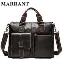 MARRANT Genuine Leather Bag Men Shoulder Crossbody Bags Men's Travel Messenger Bags Briefcases Leather Laptop Handbag Men Bag