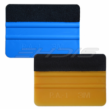 3M Gold Felt Squeegee Wrapped 3M Blue & Gold 4 inch Squeegee vinyl applicator car cleaner sticker leveling wrap sticker AT052