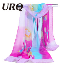 chiffon scarf print women's muslim lady chinese style spring and autumn foulard scarf patterns cape shawl wrap 2017 new