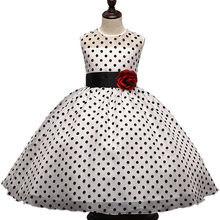 New 2017 Summer Girl Dress Classic Polka Dots Baby Girl Princess Party Birthday Children Dresses Tutu Dresses Girl Clothing