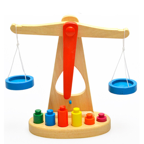 23.6cm new taste balance scale of childrens wooden educational toys Montessori Kindergarten Mathematics Teaching Enlightenment <br><br>Aliexpress
