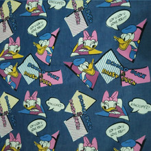 Donald Duck and Daisy Duck cowboy Jean denim Cloth Washed Cotton Fabrics For Sewing diy Patchwork Sewing 140*50cm(China)