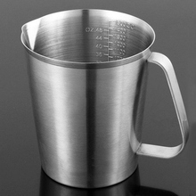 500/700/1000/1500ML Stainless Steel Measuring Cup Frothing Pitcher With Marking For Milk Froth Thicken Baked Cup Kitchen Home(China)