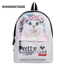 Fashion cats school bag mochila escolar pretty girl travel backpacks bag Beautifully school bags for teenagers bag ladies bts