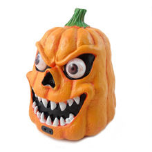 Plastic Pumpkin with LED light Sound and Sensor Scary Halloween Decoration(China)