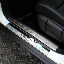 For Nissan X-Trail T32 Door Sill Scuff Plate Cover Welcome Pedal Trim X Tra 2014 to 2016 Stainless Steel Car Styling Accessor(China)