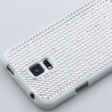Fashion Shiny bling smooth round circle diamond Soft resin TPU Protection back Cover Case for Samsung GALAXY S5 i9600