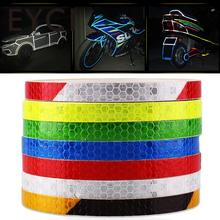 EYCI 1 cm*8 m Reflective adhesive tape, Reflective tape sticker for Truck,Car,Motorcycle,Bike, safety use(China)