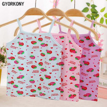 Girls tank tops cotton girls cotton child vest girls candy color girls undershirt kids underwear model 6pcs retail A-2826-6P(China)
