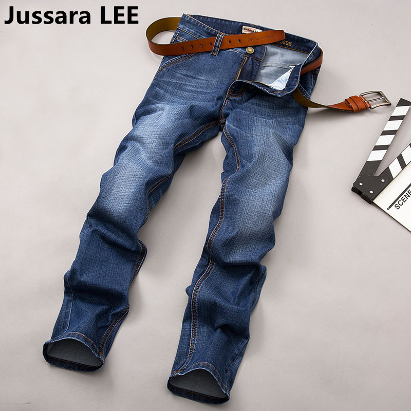 2017 Autumn Winter jeans pants mens fashion brand Straight jeans waist Young people straight slacks quality men jeansОдежда и ак�е��уары<br><br><br>Aliexpress