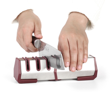Professional Three Stages Kitchen Knife Sharpener Diamond Carbide Sharpening Tool Outdoor Indoor Home Tools Stone Household hand(China)