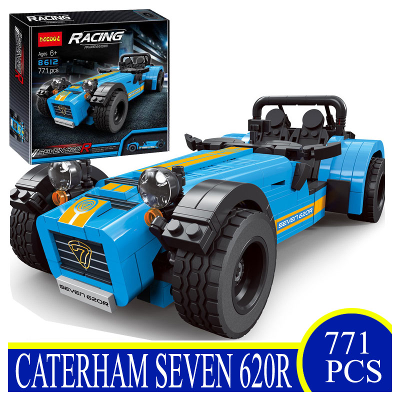8612 771PCS Ideas Racers Caterham Seven 620R F430 Sports Model Building Blocks Bricks Children Gifts Compatible With LEPIN 21307<br>