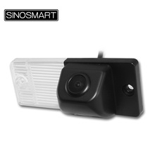 SINOSMART In Stock Car Rear View Parking Backup Camera for KIA Cerato Firm Installation in Number Plate Light Hole Lampshade