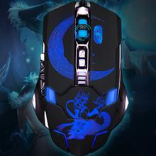 Super Cool Mechanical Luminous Cable Internet Gaming Mouse Suitable for Windows 7/8 Windows XP Windows Vista(China)