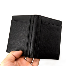 Slim Compact Bi-fold Leather Driver Licence Holder Cardcase with ID Window Fit Bussiness Driver's License Cover(China)