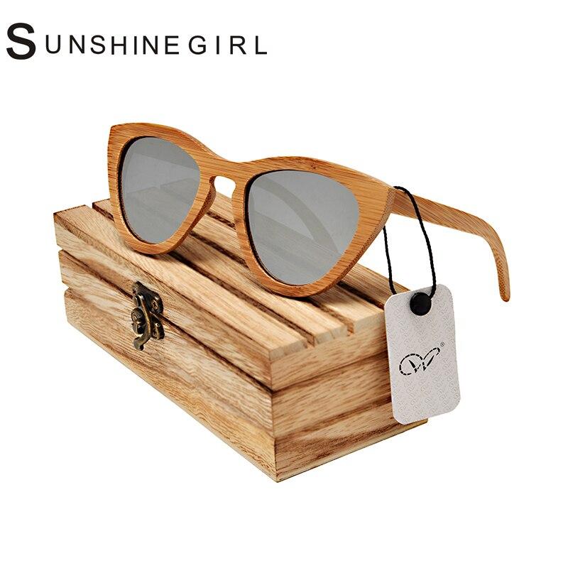 2017 Wood Grain Eyeglasses Bamboo Eye Cat Frames With Silvery Polarized Women Girl Eyeglasses Aviator Wood Grain Eyeglasses<br><br>Aliexpress