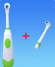 1 Set Rotating Anti Slip Waterproof Electric Toothbrush Soft Tooth Brush With 2 Brush Heads Blue Dental Care
