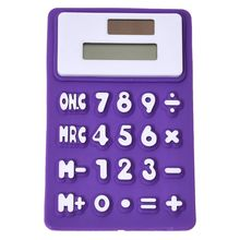 Buy Purple White Soft Silicone 8 Digits LCD Display Electronic Calculator for $2.11 in AliExpress store