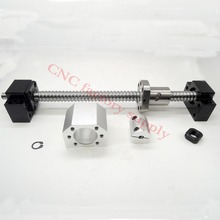 SFU1605 set:SFU1605 L300mm rolled ball screw C7 with end machined + 1605 ball nut + nut housing+BK/BF12 end support + coupler(China)