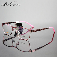 Bellcaca Spectacle Frame Women Eyeglasses Computer Optical Glasses Myopia Frame For Women's Transparent Clear Lens lunette BC023(China)