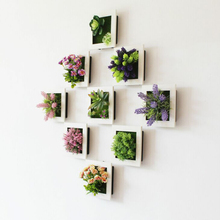 3D Wall Hanging Artificial Flower Plant Frame Flower Photo Frame Wall Decals Fake Plants for Home Office Art Wall Decoration