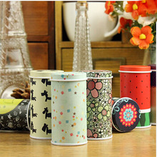 Hot sale Creative Mini Hat Meters tin Cans Circle Storage Tin Portable Tea Caddy(China)