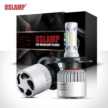 Oslamp S2 H1 H3 H4  H7 H11 H13 9004 9005 9006 9007 9012 COB Chip LED Headlight Bulb Hi-lo Beam Single Beam 8000lm 12V 6500k