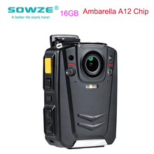 Sowze Mini Portable Latest Ambarella A12 Chip Night Vision GPS Police Body Worn Camera Professional Video For Law Enforcement