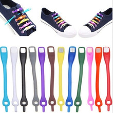12pcs/lot Lazy Shoelaces No Tie Shoelaces Sneakers Running Unisex Elastic Silicone Shoe Laces Men Women All Sneakers Fit Strap