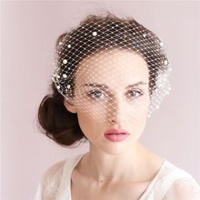 Elegant White Tulle Cap Bird Cage Wedding Accessories Veil Bridal Birdcage Wedding Veils Short Bridal Accesories(China)