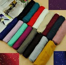 Glitter Voile Scarf Free shipping Candy Colourful Shawl Factory Price Muslim Hijab Muffle Head Wrap Hot Selling New Design Cheap