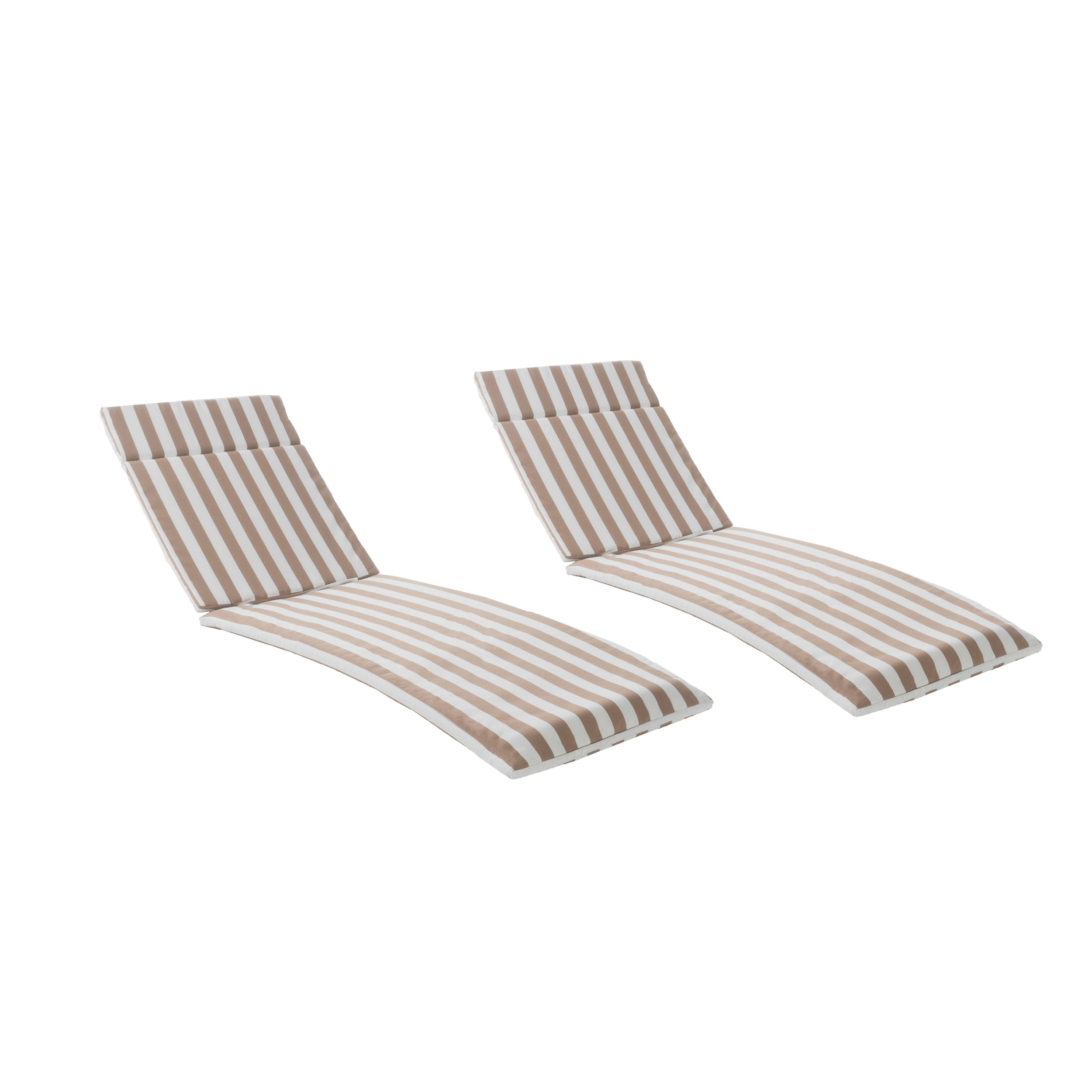 Lakeport Outdoor Water Resistant Chaise Lounge Cushions (Set of 2) (2)