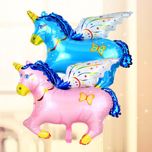 10pcs/pc big size balloon Flying horse Foil ballons Helium Animal Cute Balons for Kids Toys Balaos Child Best Gifts Promotion