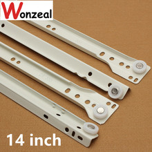 14 inch Furniture hardware Computer desk drawer rail slideway keyboard bracket guide rail(China)