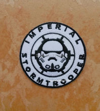 Star wars imperial stormtrooper iron on patches black white logo outdoor badge appliqued embroidered Badge sewing supplies