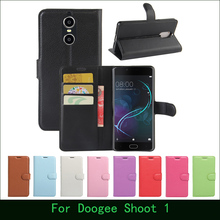 Case For Doogee Shoot 1 Luxury Wallet PU Leather Flip Case Cover For Doogee Shoot 1 Cell Phone Cases Cover & Card Holder Stand