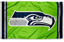 Football Seattle Seahawks Action Green NFL Flag Tailgating Large Outdoor Flag Banner 3ft x 5ft Size No.4 144* 96cm Custom flag