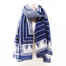 Women Geometry Pattern Cotton Voil Scarf Quality Cotton Scarf Shawls Wraps Hijabs 10pcs/Lot(China)