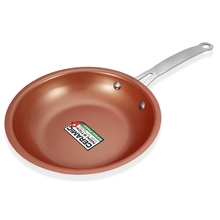 8.5 Inches Non-stick Copper Frying Pan Ceramic Pot Skillet Heat-Resistance Coating Induction Cooking Dishwasher Cookware