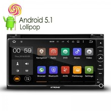 "6.95"" Android 5.1 Lollipop Quad Core 64-Bit Operating System Double Din Car DVD Player Built-in DAB+ Stereo GPS/ OBD2 head unit(China)"