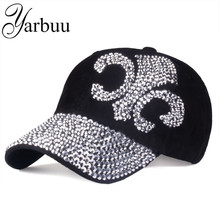 [YARBUU] 2016 new fashion hat caps sunshading men and women's baseball cap rhinestone hat denim and cotton snapback cap hip hop(China)